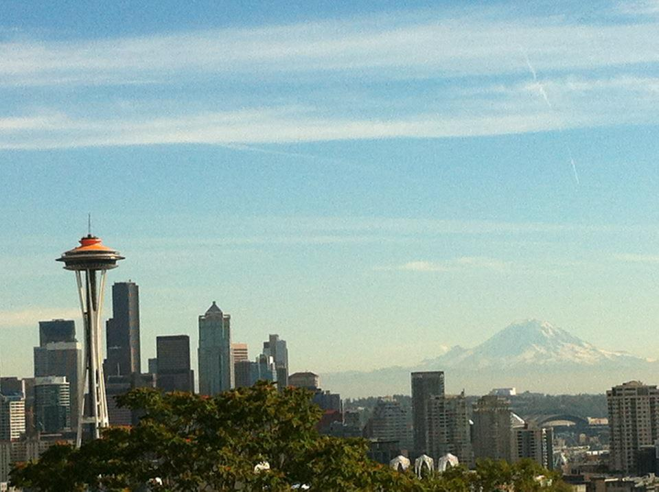 View of downtown Seattle from Kerry Park, Oct. 1, 3 pm
