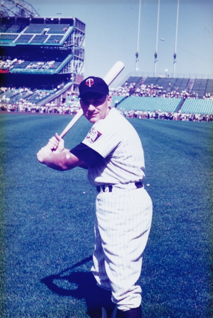 Harmon Killebrew during Camera Day at Met Stadium, 1970