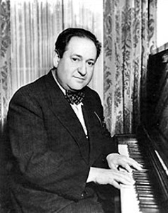 Erich Korngold at the piano