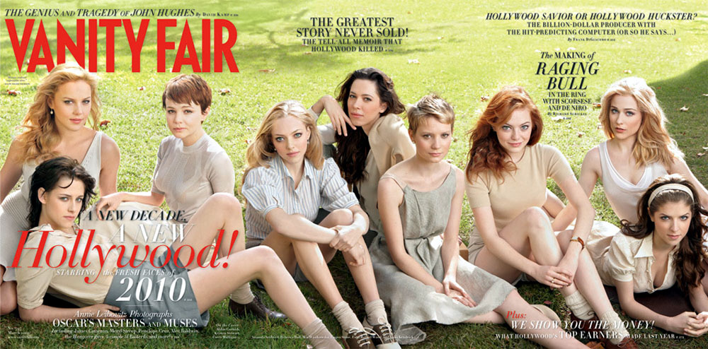 "Vanity Fair ""hot young actresses"" cover from 2010"