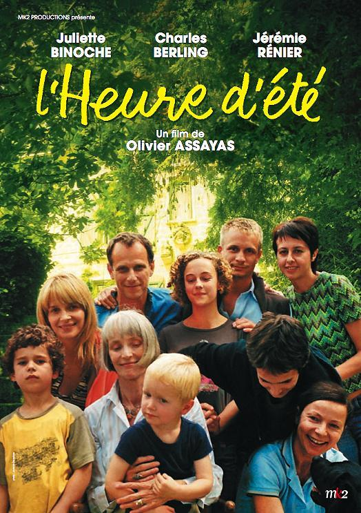 "Poster for ""L'heure d'ete"" (Summer Hours), directed by Olivier Assayas"