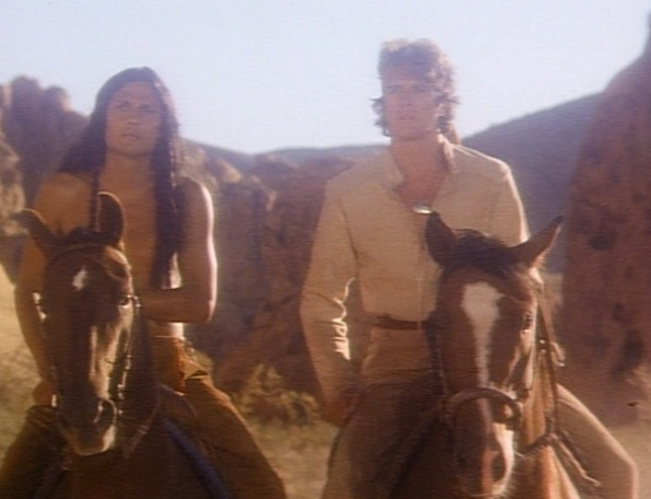 "Tonto and the Lone Ranger in ""The Legend of the Lone Ranger"" (1981)"