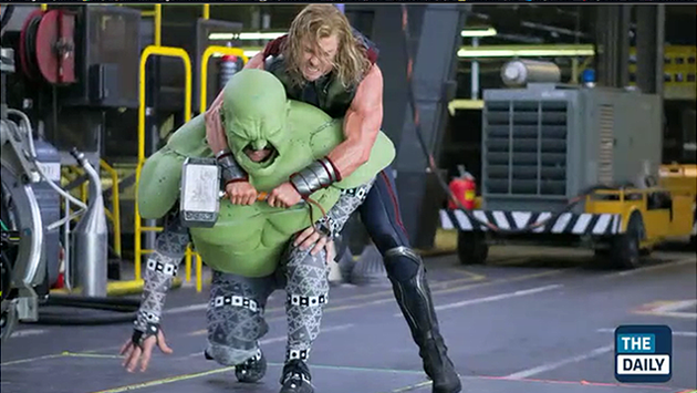 The Making of the Avengers pre-CGI: Thor and Hulk