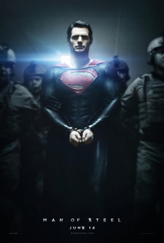 Man of Steel poster: Superman in handcuffs