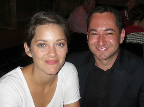 Marion Cotillard and Scott Feinberg at Telluride