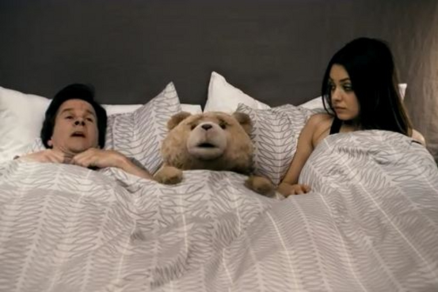 "Mila Kunis and Mark Wahlberg in ""Ted"""