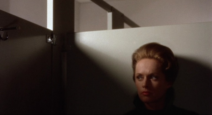 "Marnie waits to rob Rutland's in Alfred Hitchcock's ""Marnie"" (1964)"