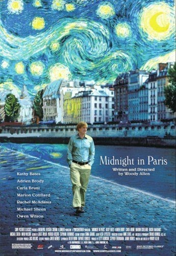 "poster for Woody Allen's ""Midnight in Paris"" (2011)"