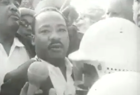 Martin Luther King, Jr. marching for open housing in Chicago