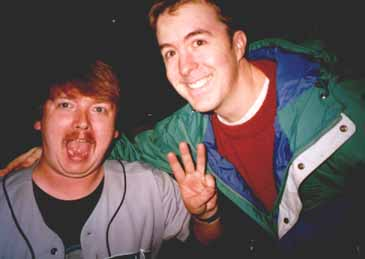Mike Busick and me at the Kingdome, September 1996