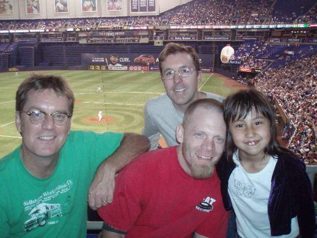 Jim Walsh and Mark Zupan at the Metrodome, 2006