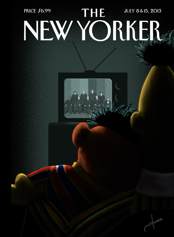 New Yorker cover, Bert and Ernie