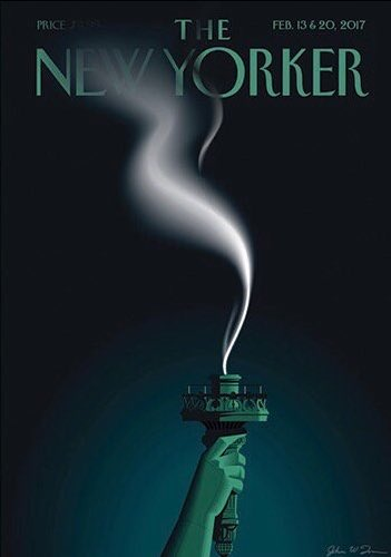 The New Yorker: the Statue of Liberty's flame snuffed out