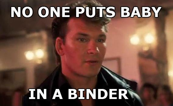 No one puts baby in a binder