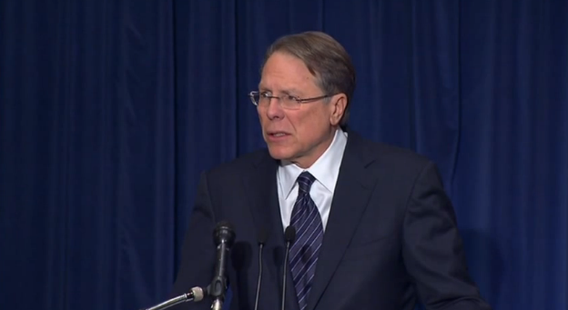 Wayne La Pierre of the NRA at a post-Newtown press conference
