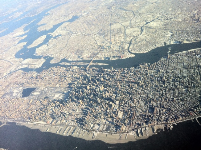 NYC from plane