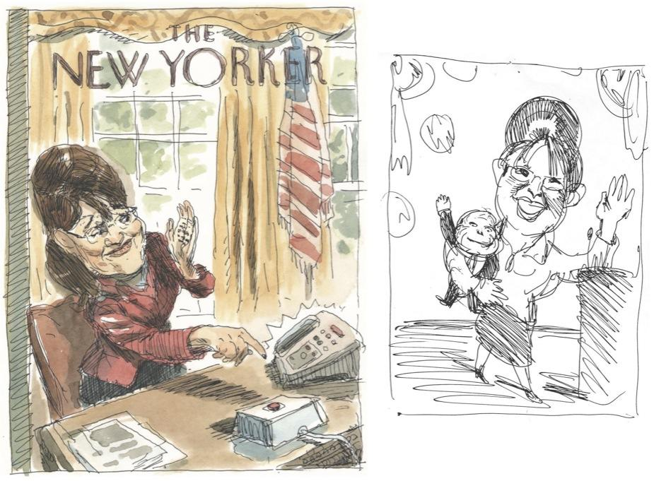 Barry Blitt's scary Sarah Palin cover