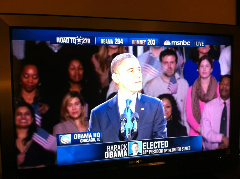 Barack Obama re-elected 44th President of the United States