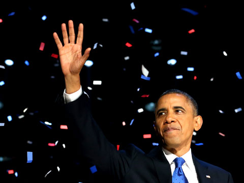 Obama, Election Night, 2012