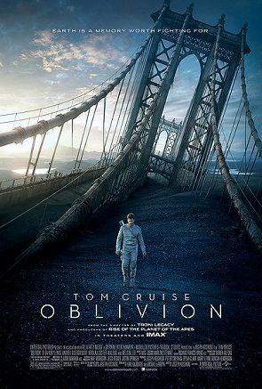 Oblivion, 2013, poster, with Tom Cruise