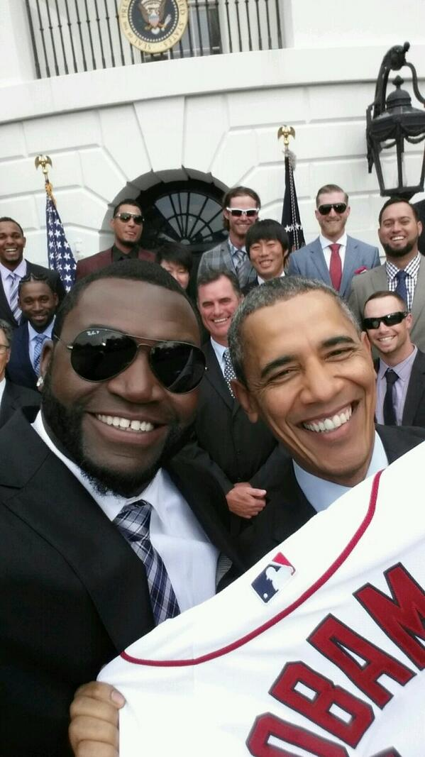 David Ortiz and Barack Obama at the White House