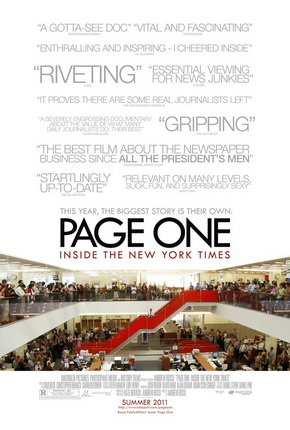 "poster for ""Page One: Inside the New York Times"" (2011)"