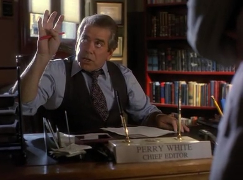 "Lane Smith as Perry White in ""Lois & Clark"""