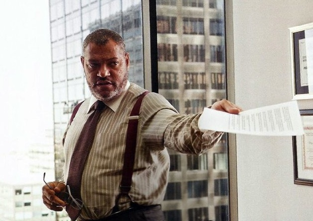 "Larry Fishburne as Perry White in ""Man of Steel"" (2013)"