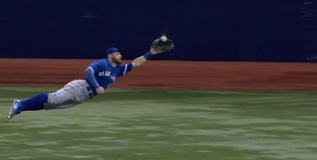 Kevin Pillar Superman catch