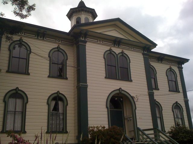 "The Potter Schoolhouse in the town of Bodega; where Alfred Hitchcock filmed ""The Birds"""