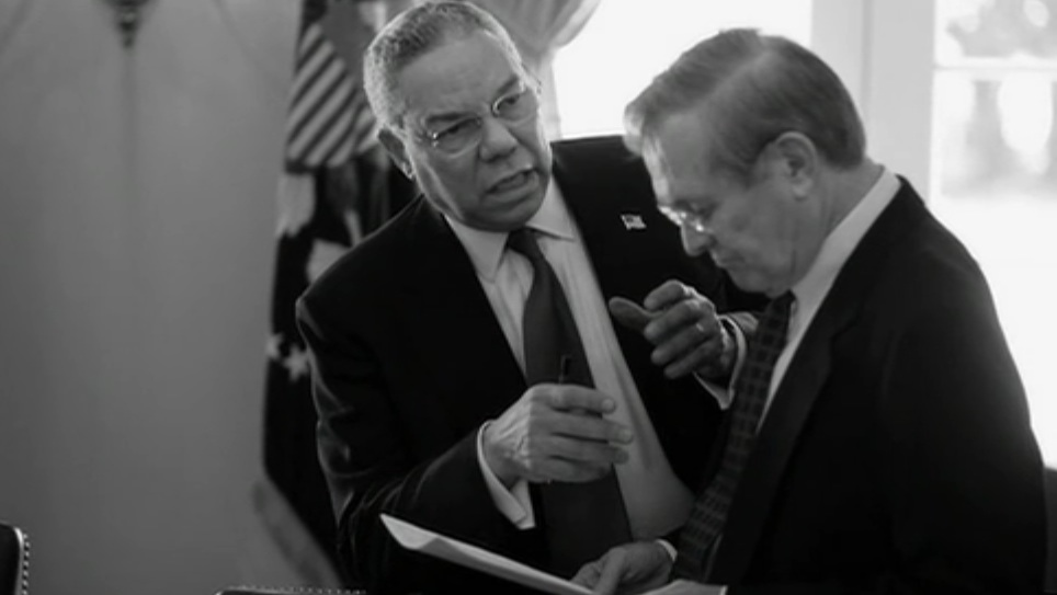 Colin Powell and Donald Rumsfeld