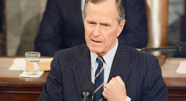 President George H.W. Bush in 1992