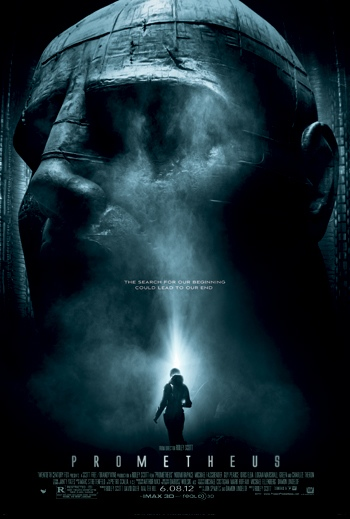 "poster for Ridley Scott's ""Prometheus"" (2012)"