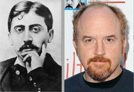 Marcel Proust and Louis C.K.: together again