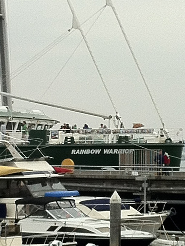 Greenpeace's the Rainbow Warrior docked in Seattle
