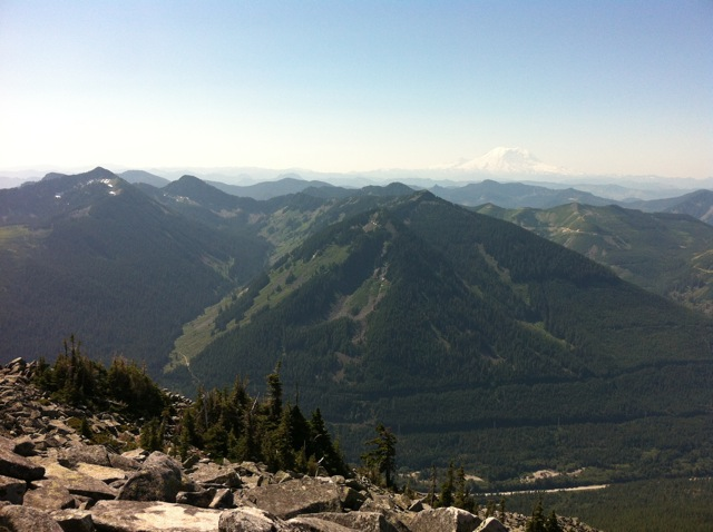Mt. Rainier from Granite Mountain: August 2012