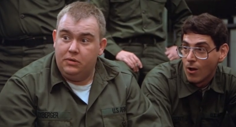 "Harold Ramis and John Candy in ""Stripes"""