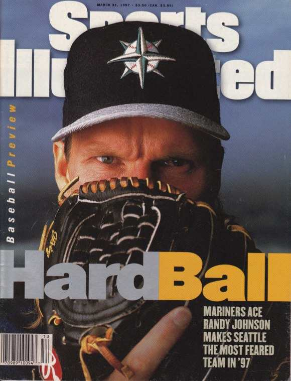 Randy Johnson on the cover of Sports Illustrated