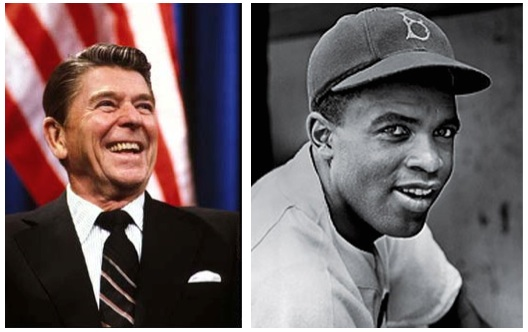Ronald Reagan and Jackie Robinson