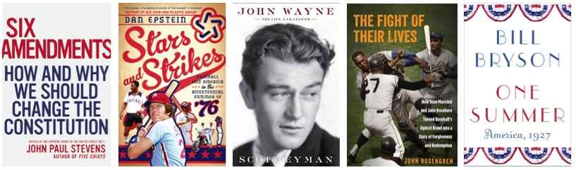 Recommended 2014 books: Six Amendments, Stars and Strikes, John Wayne, Fight of Their Lives, One Summer: America, 1927