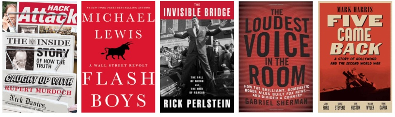 Recommended 2014 books: The Invisible Bridge, Hack Attack, Flash Boys, Five Came Back, Loudest Voice