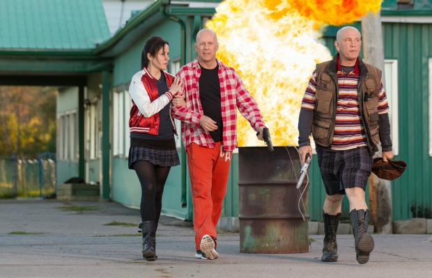 "Mary Louise Parker, Bruce Willis and John Malkovich in ""Red 2"""