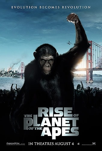 "poster for ""The Rise of the Planet of the Apes"" (2011)"