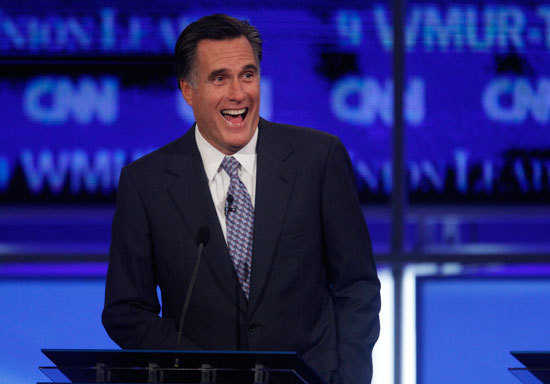Mitt Romney laughs