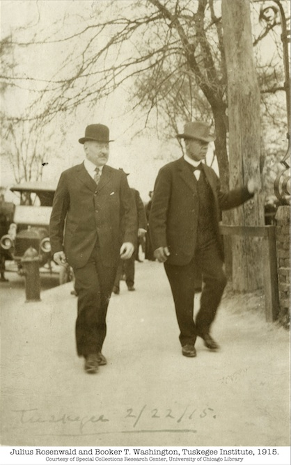 "Julius Rosenwald and Booker T. Washington from Aviva Kempner's documentary ""Rosenwald"""