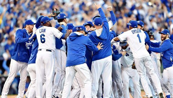 Kansas City Royals AL pennant winners