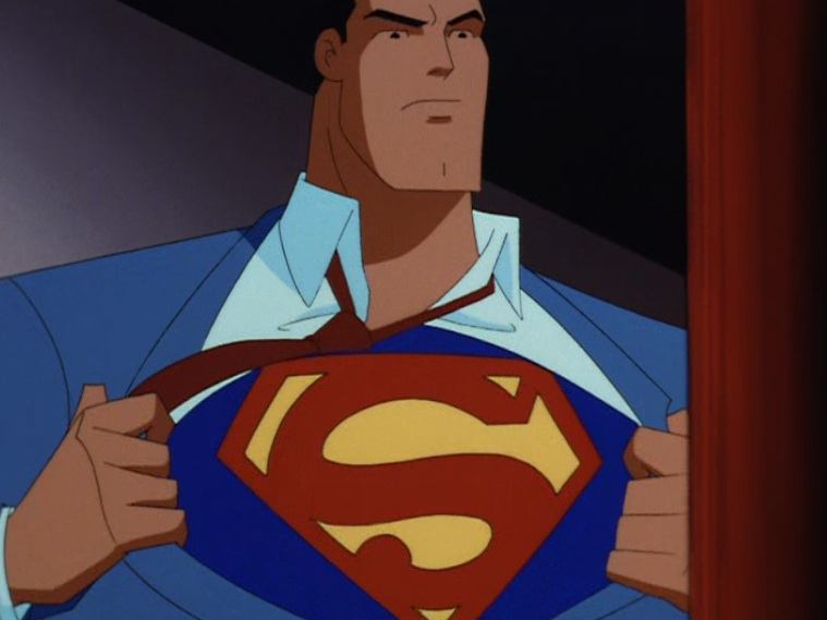 "Clark turns into Superman in ""Last Son of Krypton,"" 1996"