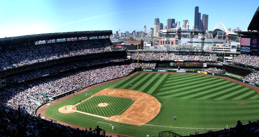 Safeco Field in downtown Seattle