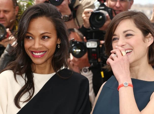 Zoe Saldana and Marion Cotillad and Cannes 2013