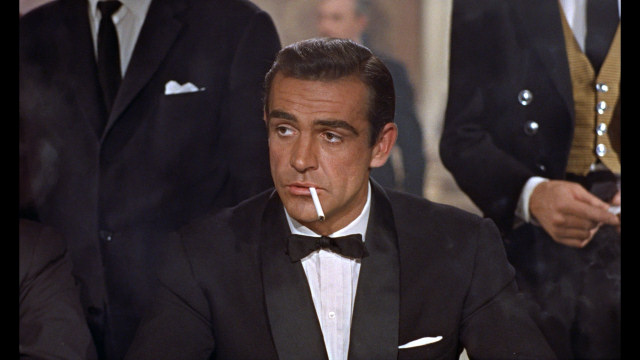 "Sean Connery as James Bond, 007, in ""Dr. No"""